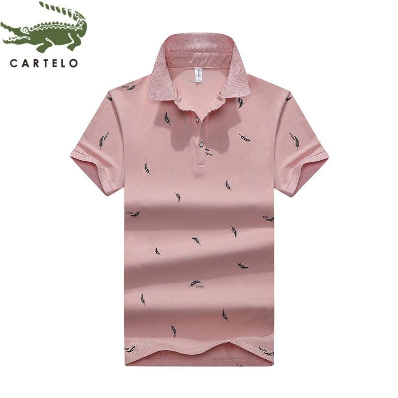 CARTELO Men's Fashion Trendy Polo Shirt T-shirt Cotton Shirt Men футболка