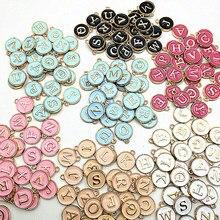 Nuovo 12*14mm A-Z lettera Charms smalto Charms alfabeto lettera iniziale ciondolo fatto a mano per gioielli fai da te braccialetto fare all'ingrosso