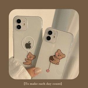 Image 1 - Transparent Cartoon Bear Cover Case For iPhone 12 12min 12Pro 12ProMax 11 11Pro 11ProMax SE2020 X XS XSMAX XR 7 8 7Plus 8Plus
