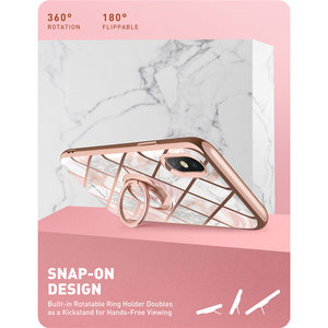 Image 4 - For iphone Xs Max Case i Blason Cosmo Snap Slim Marble Cover with Built in Rotatable Ring Holder Kickstand Support Car Mount