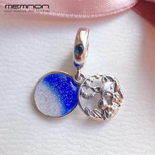 2019 New autumn Fox Rabbit Hanging Charms 925 sterling Silver pendant enamel charm fit bead Bracelet Necklace DIY Memnon Jewelry(China)