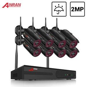 Image 1 - ANRAN 2MP CCTV Wireless NVR Surveillance System Kit 8CH Wifi Sicherheit Video Outdoor Sicherheit Video Überwachung System kit IP66