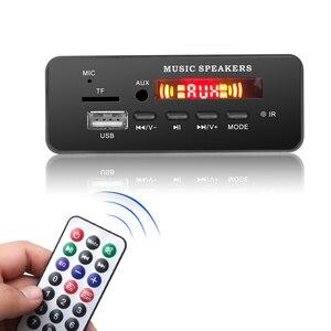 Image 1 - DC 12V Bluetooth 5.0 car kit MP3 Scheda di Decodifica Audio Modulo USB TF di FM Radio AUX MP3 Lettore Handfree per il Supporto Auto di Registrazione