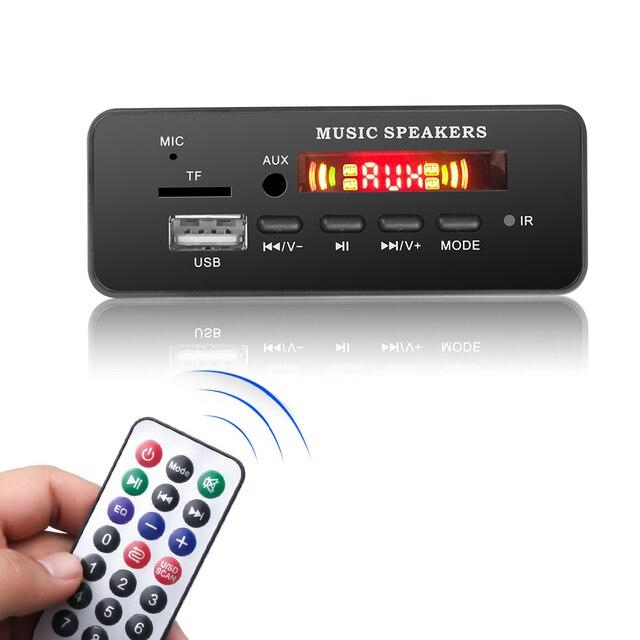 DC 12V Bluetooth 5.0 car kit MP3 Scheda di Decodifica Audio Modulo USB TF di FM Radio AUX MP3 Lettore Handfree per il Supporto Auto di Registrazione