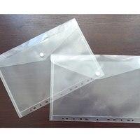 11 Hole Transparent A4 Document File Bag Plastic Folder File Bill Envelope Storage Bag Data School Student Test Paper Bag