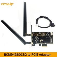 BCM94360CS2 إلى سطح المكتب PCIe سماعة لاسلكية تعمل بالبلوتوث محول ثنائي النطاق واي فاي بطاقة محول 1X 2 قطعة 6DBi هوائي ل هاكينتوش/ماك os