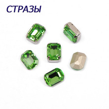 CTPA3bI 4610 Octagon Shape Peridot Color Fancy Beads Rhinestones Glass Bead Charm For Making Jewelry Handicrafts DIY Accessories