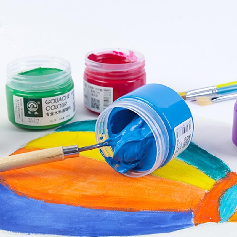 1PCS 100ml Gouache Paint Colour Pigmen Watercolor Textile Painting Students Art Supplies