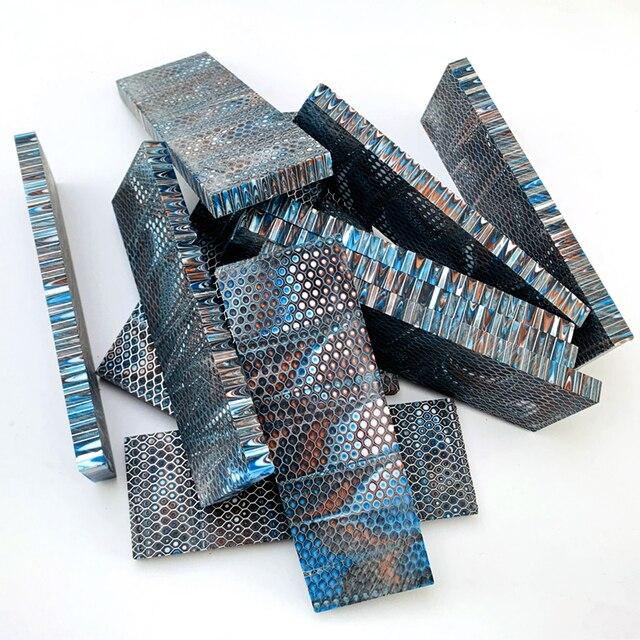 1 pièce c-tek nid dabeille résine matériel pour bricolage couteau poignée matériau plaque résine composé matériel 120x40x8mm