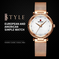 Popular Women Dress Quartz Watch Luxury Mesh Band Ladies Watches Elegant Diamond Female Clock Zegarek Damski