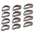 12 шт шлифовальных лент 40 80 120 зернистый алюминиевый оксид 3 дюйма x 21 дюймов ленточный шлифовальный ремень