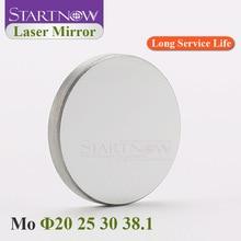Mo лазерное зеркало диаметром 20 мм, 25 мм, 30 мм, 38,1 мм, молибденовый отражатель, линзы для CO2 Резки, гравировки, резьбы