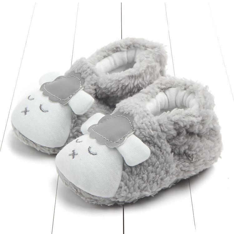Pretty Cute Newborn Baby Girls Boys Anti-slip Socks Cartoon Floor Slipper Shoes Boots Step Socks First Walkers 0-18M