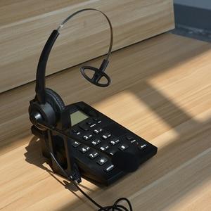 Image 4 - コード電話機コールセンターダイヤルパッドヘッドセット電話 fsk と DTMF 発信者 ID & リダイヤル、調整可能な液晶輝度 & ボリューム