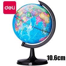 Buy Deli 10.6cm Diameter Desktop Swivel Mini World Globe Full Plastic Home Office Student Stand Geography Teaching Supplies 3031 directly from merchant!