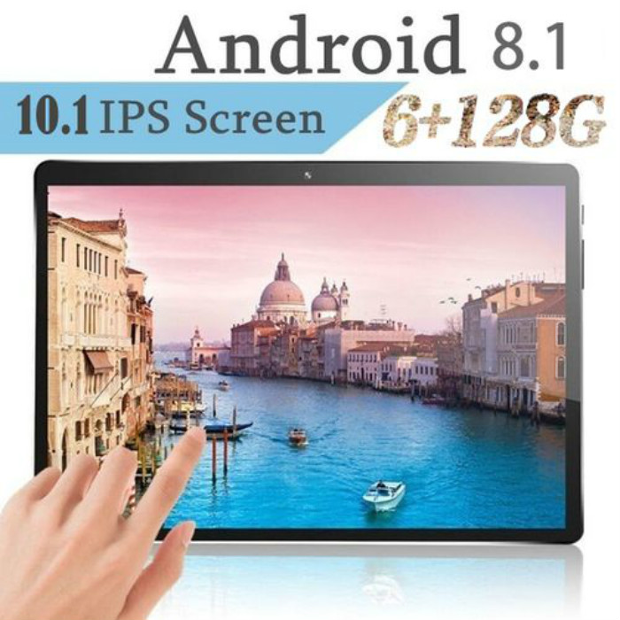 Hot Sale 10.1 Inch 2.5D Screen 10 Core 6G+128GB Android 8.1 Dual Sim Dual Camera Phone Pad Wifi Tablet PC Kids Tablet