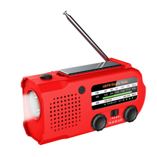 Protable Hand Radio Solar Crank Dynamo Powered AM/FM/NOAA Weather Radio Use Emergency LED Flashlight 5000mAh Power Bank