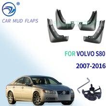 전면 후면 세트 VOLVO S80 2007 2016 용 성형 자동차 머드 플랩 Mudflaps 스플래쉬 가드 Mud Flap Mudguards Fender 2008 2009 2010