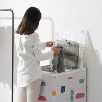 4 arten Frontlader Waschmaschine PEVA Staub Proof Abdeckung Wasserdicht Fall Waschmaschine Schutzhülle Staub Jacke-in Waschmaschinen-Abdeckung aus Heim und Garten bei