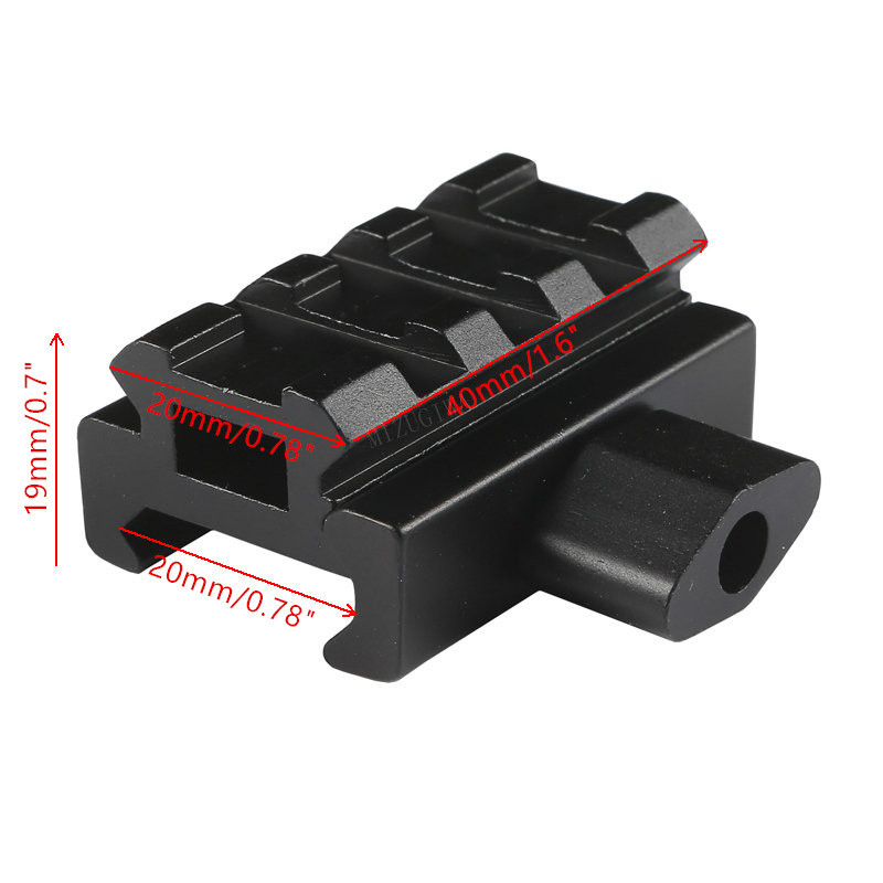 MIZUGIWA Low Profile Compact Riser Scope Mount 0.5