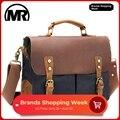 MARKROYAL Retro Rindsleder Leinwand Reisetasche Mode Lässig Taschen Mit Band Multi-Tasche Laptop Handtasche Für Mann und frauen
