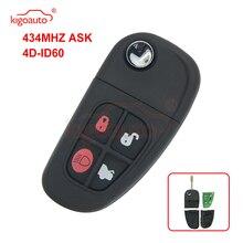 remtekey flip remote key fob for jaguar x s xj xk nhvwb1u241 4 button 434mhz Kigoauto XJ8 4 button 434Mhz FO21 blade remote key for Jaguar NHVWB1U241 flip key