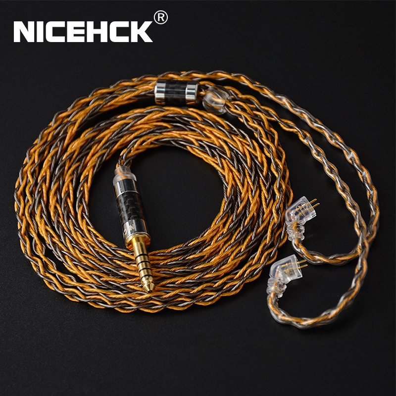 NICEHCK C8-1 8 Core Silver Plated and Copper Mixed Earphone Cable 3 5 2 5 4 4mm MMCX NX7 Pro QDC 0 78mm 2Pin For DB3 ST-10s
