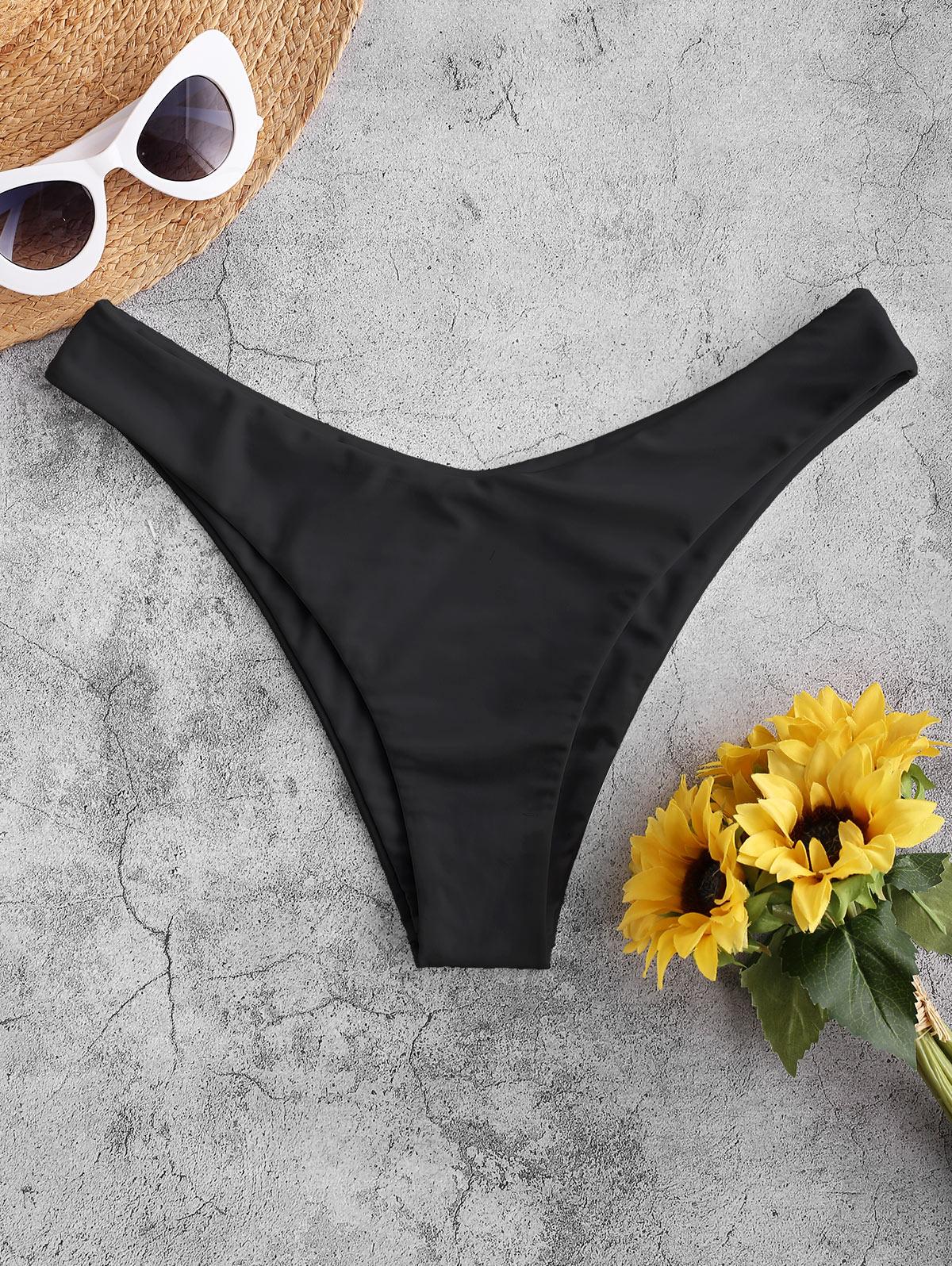 ZAFUL High Cut Solid Bikini Bottom