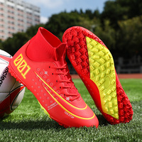 Indoor Football Boots Men Turf Cleats Soccer Shoes Professional Football Shoes High Ankle Trainers Sneakers Chuteira Futelbol|Soccer Shoes|   -