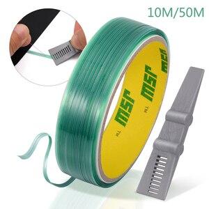 FOSHIO 10 м/50 м виниловая графическая режущая лента с углеродным волокном для удаления стикеров скребок для окон тонировка дизайн линия резак