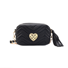 Chain Heart-shaped Small Square Bag Fashion Woman Bag Designer Handbag Quality Upper Sewing Stitch Shoulder Messenger Bag цена в Москве и Питере