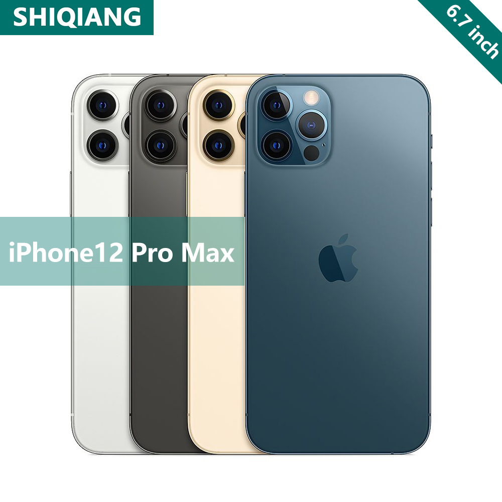 Original Entsperren Marke Apple iphone 12pro max 5G 6.1 12MP Bionic 2Sim Karte Version 256GB Chinesische version a14 Bionic Smartphone