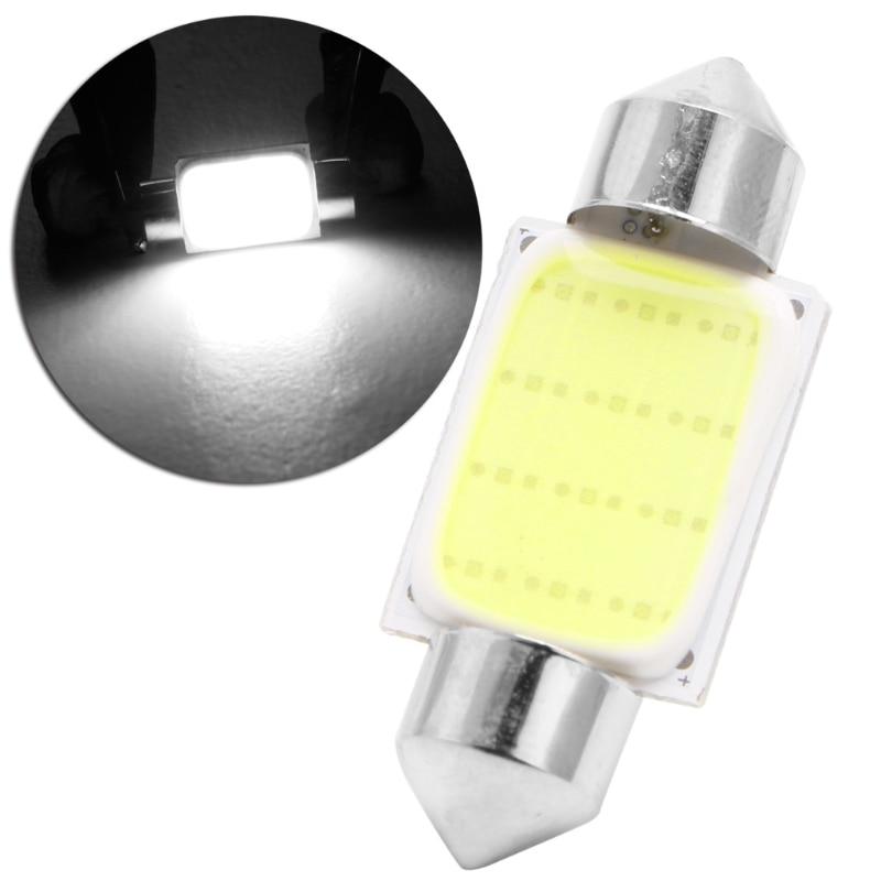 10pcs LED Lights  36mm Festoon CAN BUS C5W PLASMA COB SIZE Interior White SMD Bulb
