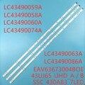 Светодиодный подсветка полосы (3) для LG 43UJ675V 43UJ634V 43LJ624V 43LJ634V 43LJ617T 43UJ701V 43UJ6309 43UJ6307 43UJ670V 43UJ6350 43UJ6500