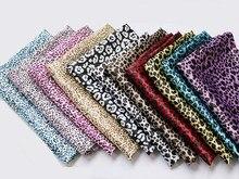 Por metro áfrica leopardo impresso tecido de cetim material para lenço forro diy