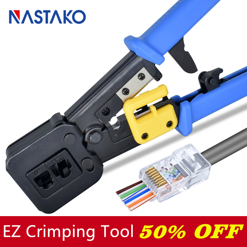Plier Crimper Hand-Network Multi-Cable Cat6 Ez Rj45 Rj11 Cat5 for 8p8c/Multi-cable/Crimping/Stripper title=