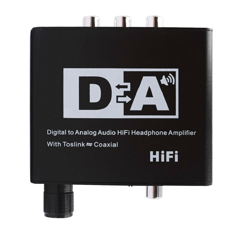 HiFi Digital Analog Audio Converter Fiber Coaxial To RCA Left And Right Channel Coaxial Bi-Directional Switch With RCA 3.5Mm Jac