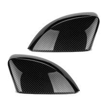2 個アウディA3 S3 8v RS3 車のバックミラーカバーキャップシェルハウジングドアサイドウイングミラーカバー車のアクセサリー