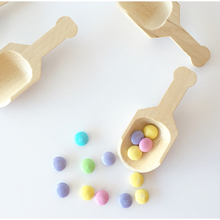 Disposable Wooden Spoon Highy Quality Wood 12pcs Per Pack Candy Buffet Scoops Birthday Party Wild Barbecue Kitchen Baking Tools
