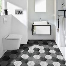 10 шт./партия, современные шестиугольные утолщенные водонепроницаемые самоклеющиеся обои для гостиной, наклейки на пол, противоскользящие для ванной, кухни