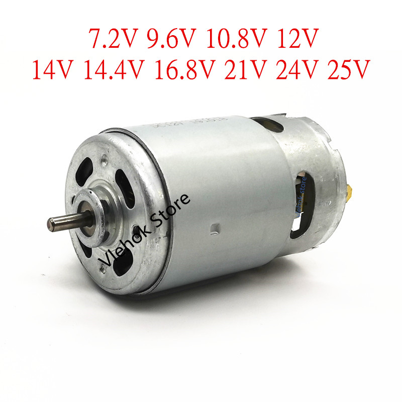 RS550 7.2V 9.6V 10.8V 12V 14.4V 16.8V 18V 21V 24V 25V Motor for BOSCH DeWALT HITACHI MAKITA METABO Milwaukee Hilti Ryobi RS-550 image