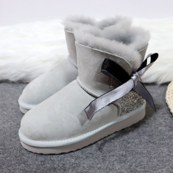 Fashion New Arrival Real Sheepskin 2020 Woman Winter Classic Snow Boots Genuine Women Top Quality - discount item  35% OFF Women's Shoes