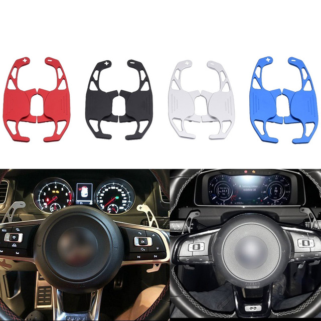 SPEEDWOW 1Pair Car Steering Wheel Shift Paddle Shifter Extended For VW GOLF GTI R GTD GTE MK7 7 POLO GTI Scirocco 2014 2019