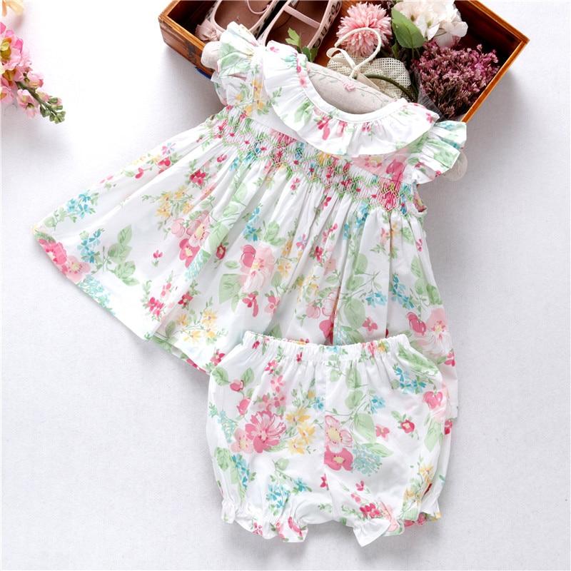 Где купить Летние комплекты одежды для маленьких девочек; милая одежда с цветочным рисунком и оборками для детей 1 лет; детская одежда из хлопка