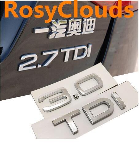 1,9, 2,0, 2,7, 3,0, TDI автомобильный стиль, эмблема, задний багажник, разрядка, автомобильный стиль для Audi A7, A8, A6, A5, A4, A3, Q7, Q5, Q3