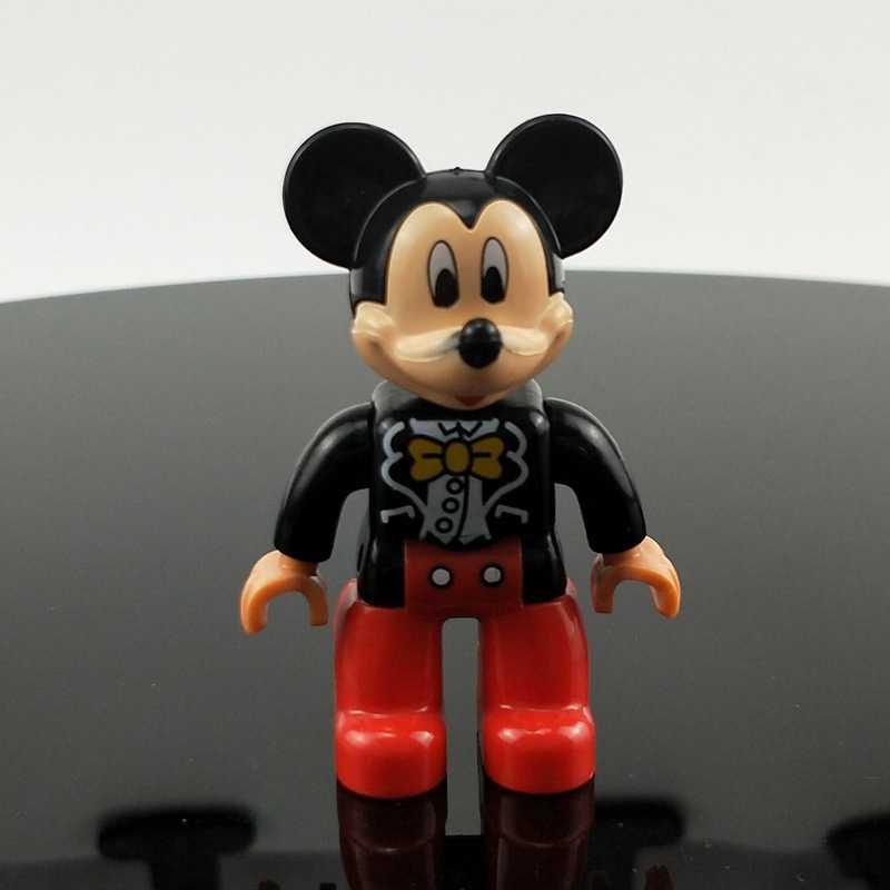 Para bloqueo Duploe mickey minnie Mouse Batman figuras de sirena accesorio Juguetes de bloques de construcción con ladrillo 2x4 2x6 Lockings Duploed