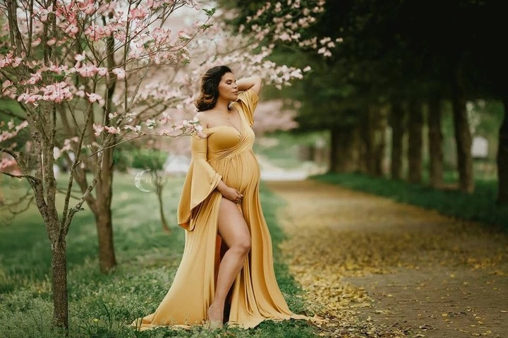 Sexy Maternity Shoot Dresses Shoulderless Pregnancy Dress Photography Maxi Maternity Gown Photo Prop Clothes For Pregnant Women (3)