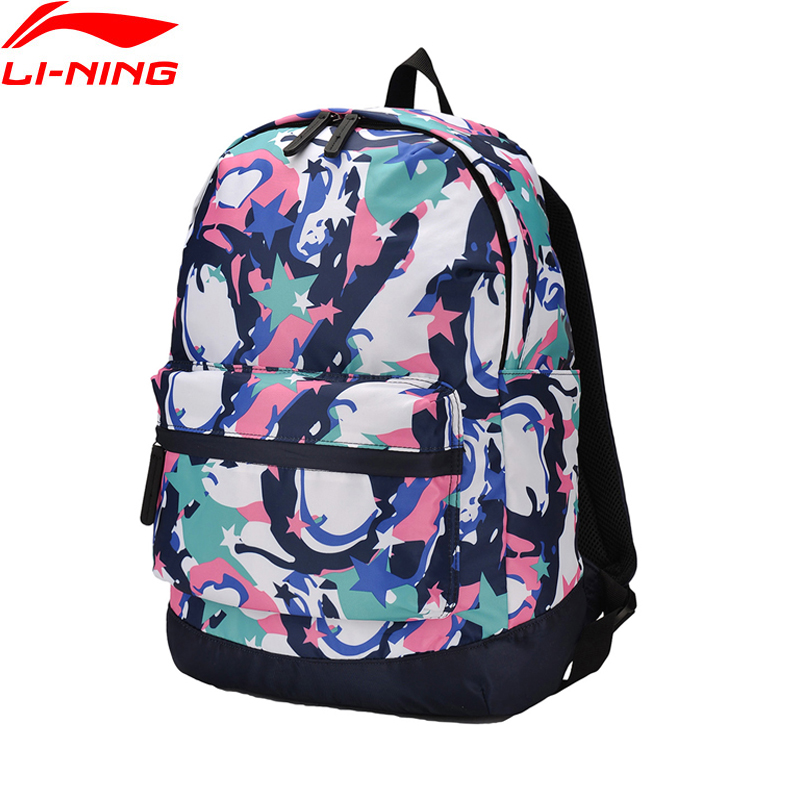 Li-Ning Unisex Training Backpack Polyester Classic Leisure Adjustable Shoulder Strap LiNing Li Ning Sports Bag ABSM028 BBF227