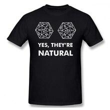 D20 да, они натуральный для мужчин футболка Прямая доставка Harajuku 4XL 5XL 6XL, хлопковые футболки с короткими рукавами для мужчин