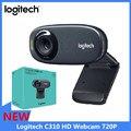 Веб-камера Logitech C310 HD 720P, Компьютерная видеокамера для видеоконференции, встроенный микрофон, веб-камера с автофокусом для ПК, ноутбука